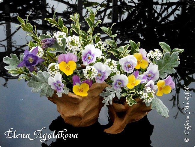 Добрый день! Сегодня я к вам снова с композициями из цветов. Прошлым летом я решила осуществить еще одну свою мечту - научится цветочному дизайну. Очень люблю цветы, травки-муравки, деревья и вообще все растения. Очень увлекательно работать с цветами! Я взяла небольшой курс по цветочному дизайну. Дома делаю аранжировки из того что под рукой, беру цветы которые найду, даже полевые и из своего садика. Люблю использовать разные веточки, травинки... Делюсь красотой!  фото 15