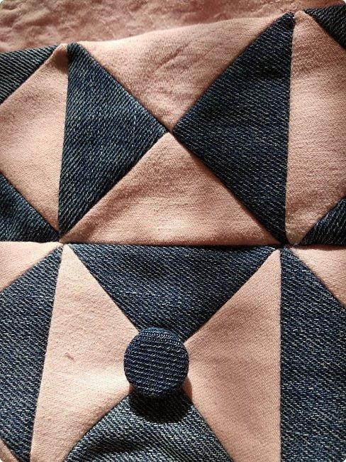 Маленькая сумочка через плечо. Из двух джинсов, розовые и синие. Розовые - мягкие. фото 9