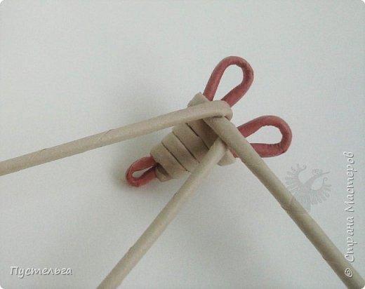"""К Новому году готовимся летом! Сплетём мышку-малышку.  Всего 6 трубочек, из них 1 розовая. Бумага """"Кондопога"""" Ширина полосы 7 см, спица 1,2 мм фото 7"""