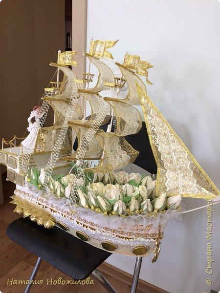 Всем доброго времени суток. Люблю делать корабли. Вот еще два в моей коллекции. Свадебный корабль с бутылкой шампанского и сундуком сокровищ.