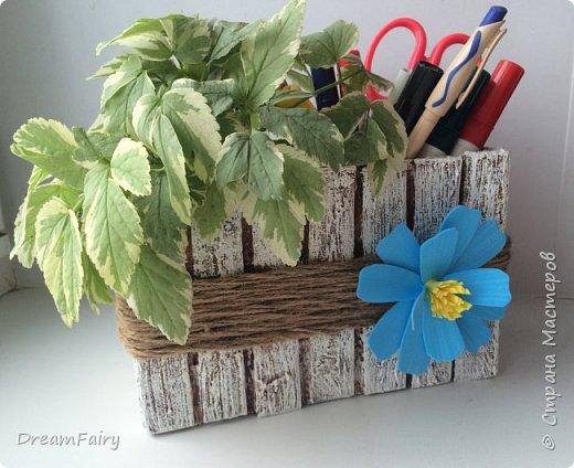 Цветочный кашпо - органайзер из джута и картона своими руками.