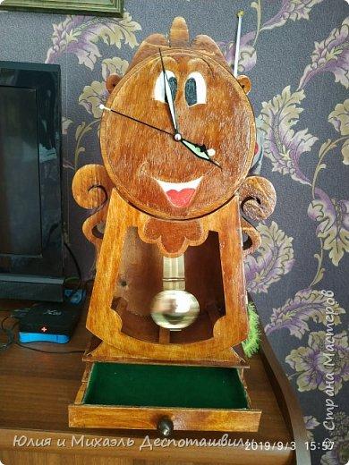 "Часы-шкатулка ""Когсворд"" из м/ф ""Красавица и чудовище"" фото 2"