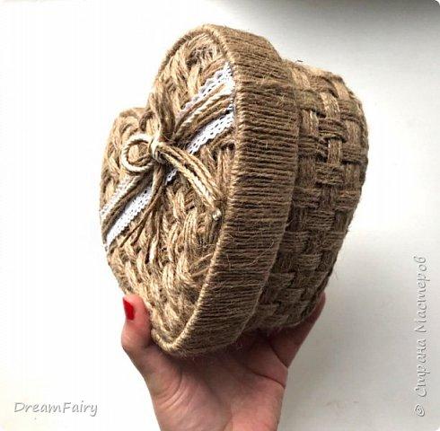 Плетеная шкатулка из джута своими руками