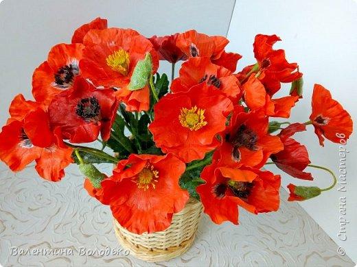 Добрый вечер мастера и мастерицы!!!Наконец то я закончила лепку цветов для полевого букета!!Вот такие маки расцвели дождливой осенней порой.