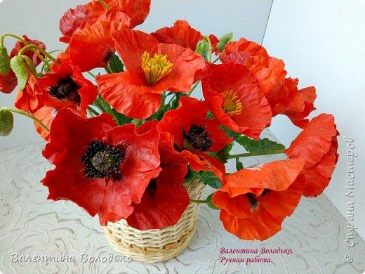 Добрый вечер мастера и мастерицы!!!Наконец то я закончила лепку цветов для полевого букета!!Вот такие маки расцвели дождливой осенней порой. фото 4