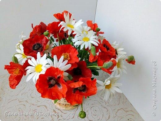 Добрый вечер мастера и мастерицы!!!Наконец то я закончила лепку цветов для полевого букета!!Вот такие маки расцвели дождливой осенней порой. фото 5