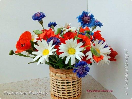Добрый вечер мастера и мастерицы!!!Наконец то я закончила лепку цветов для полевого букета!!Вот такие маки расцвели дождливой осенней порой. фото 7
