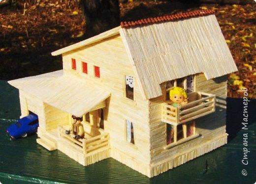 Загородный дом, 18х28х18 см, 145 коробков спичек. фото 1