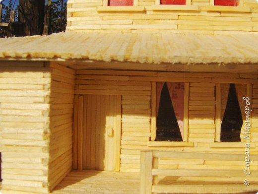 Загородный дом, 18х28х18 см, 145 коробков спичек. фото 4