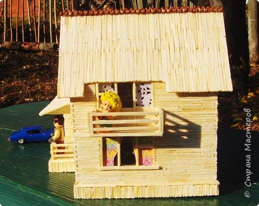 Загородный дом, 18х28х18 см, 145 коробков спичек. фото 5