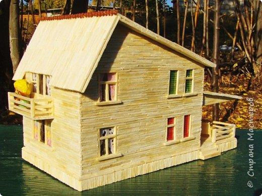 Загородный дом, 18х28х18 см, 145 коробков спичек. фото 6