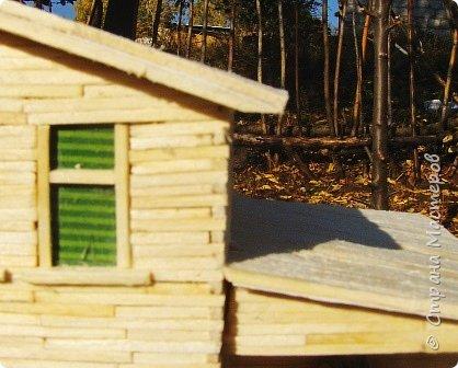 Загородный дом, 18х28х18 см, 145 коробков спичек. фото 8