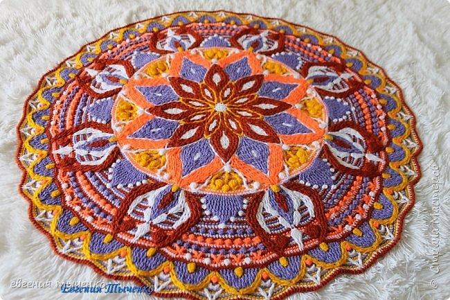 """добрый день, готов МК по коврику """"лира"""", размер 90 см  цвета - белый, желтый, коричневый, сиреневый, оранжевый"""