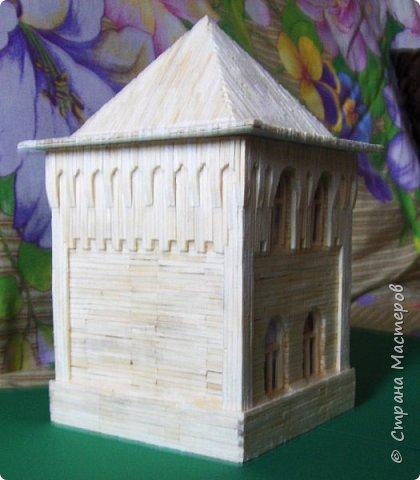 Загородный дом, 18х28х18 см, 145 коробков спичек. фото 23
