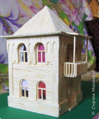 Загородный дом, 18х28х18 см, 145 коробков спичек. фото 25