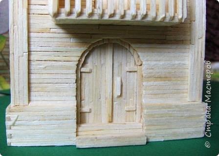 Загородный дом, 18х28х18 см, 145 коробков спичек. фото 27
