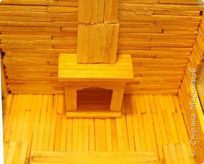 Загородный дом, 18х28х18 см, 145 коробков спичек. фото 18