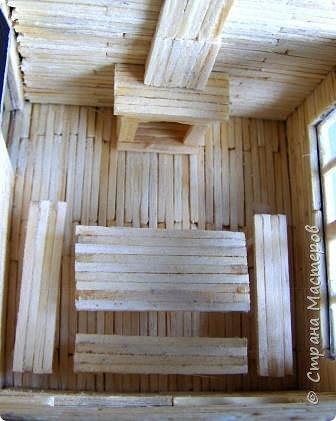 Загородный дом, 18х28х18 см, 145 коробков спичек. фото 19