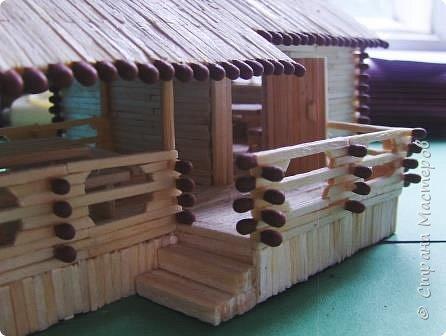 Загородный дом, 18х28х18 см, 145 коробков спичек. фото 13