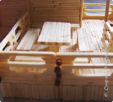 Загородный дом, 18х28х18 см, 145 коробков спичек. фото 14