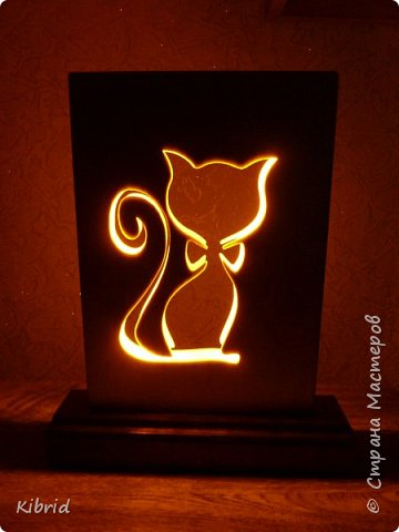 Светильник- ночник в детскую. Кот с бантиком.  фото 2