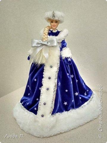 Кукла шкатулка Снегурочка и снеговик из носка фото 2