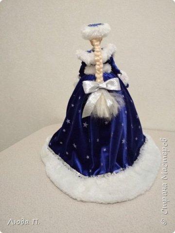 Кукла шкатулка Снегурочка и снеговик из носка фото 3