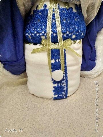 Кукла шкатулка Снегурочка и снеговик из носка фото 6