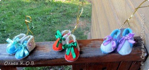 Игрушки из фетра : обувка и матрешки