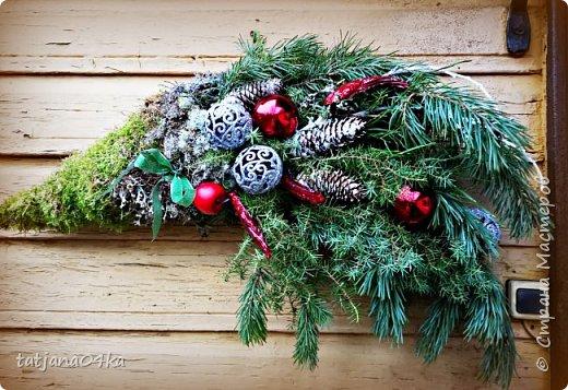 в воскресенье учились делать рождественский рог изобилия,,,вот такая красота теперь украшает мой дом фото 1