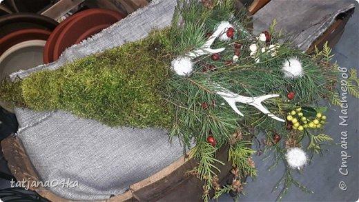 в воскресенье учились делать рождественский рог изобилия,,,вот такая красота теперь украшает мой дом фото 2