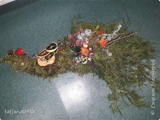 в воскресенье учились делать рождественский рог изобилия,,,вот такая красота теперь украшает мой дом фото 6