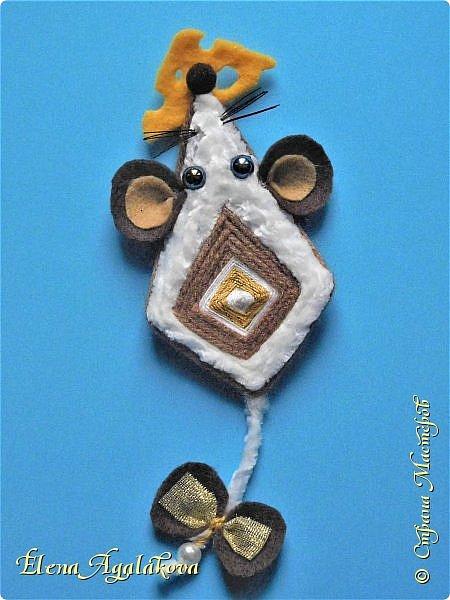 Скоро наступает год Белой Металлической Крысы по восточному календарю. Это мой талисман-мандала к новому году. Хотелось придумать что-то простое и в тоже время симпатичное... фото 2