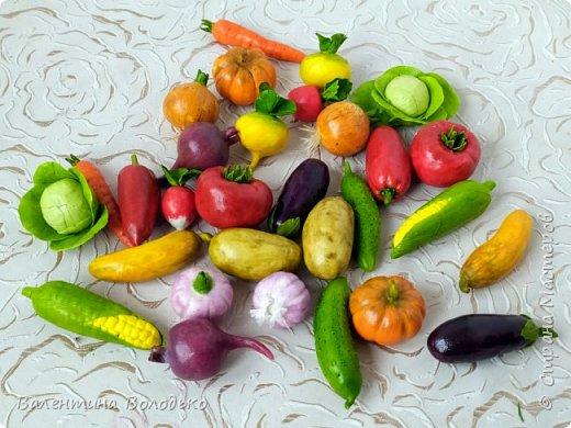 Добрый день мастера и мастерицы !!!Посмотрите какой урожай овощей я слепила в качестве пособия логопеду для занятий с детками в садике.