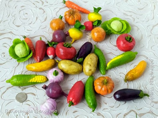 Добрый день мастера и мастерицы !!!Посмотрите какой урожай овощей я слепила в качестве пособия логопеду для занятий с детками в садике. фото 2