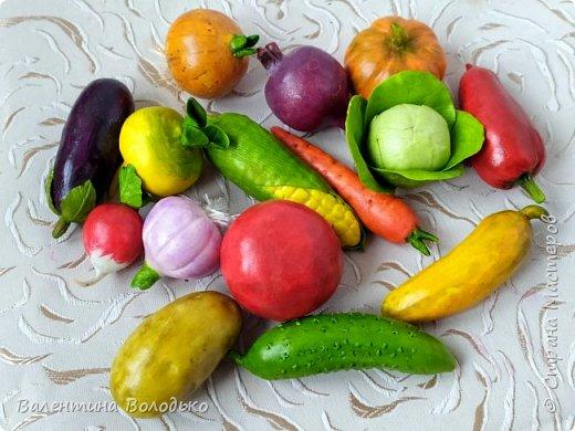 Добрый день мастера и мастерицы !!!Посмотрите какой урожай овощей я слепила в качестве пособия логопеду для занятий с детками в садике. фото 4