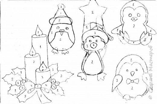 Новый год - самый яркий из всех праздников в году. А вот новогодние вытынанки делают из бумаги одного цвета, обычно белого, иногда добавляя фон другого цвета. Но мне захотелось сделать их яркими, новогодними. За основу взял обычные вытынанки из интернета. Новогодние вытынанки. фото 64