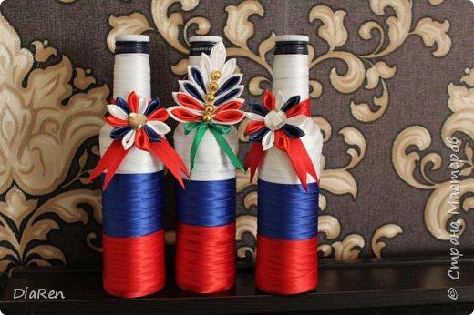Оформление бутылки на 23 февраля. Дизайн & Декор своими руками. фото 2