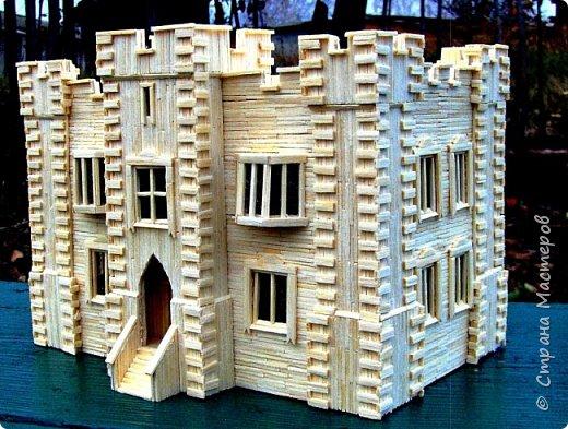 Загородный дом, 18х28х18 см, 145 коробков спичек. фото 29