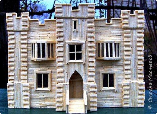 Загородный дом, 18х28х18 см, 145 коробков спичек. фото 31