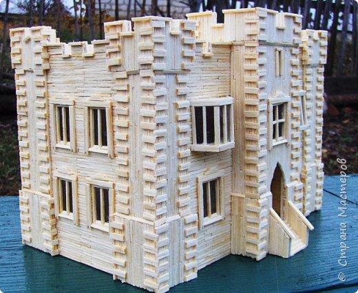 Загородный дом, 18х28х18 см, 145 коробков спичек. фото 37