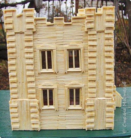 Загородный дом, 18х28х18 см, 145 коробков спичек. фото 38