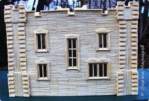 Загородный дом, 18х28х18 см, 145 коробков спичек. фото 39