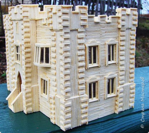 Загородный дом, 18х28х18 см, 145 коробков спичек. фото 42