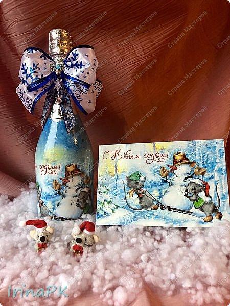25 января наступил год Крысы (Мыши). Как всегда,по традиции к каждому Новому году делаю декупаж из открыток с символом года, и этот год не исключение.  фото 19