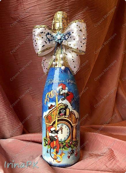 25 января наступил год Крысы (Мыши). Как всегда,по традиции к каждому Новому году делаю декупаж из открыток с символом года, и этот год не исключение.  фото 13