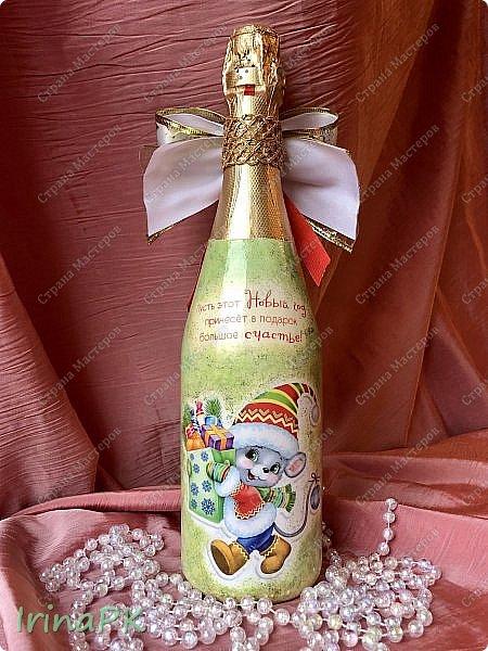 25 января наступил год Крысы (Мыши). Как всегда,по традиции к каждому Новому году делаю декупаж из открыток с символом года, и этот год не исключение.  фото 12