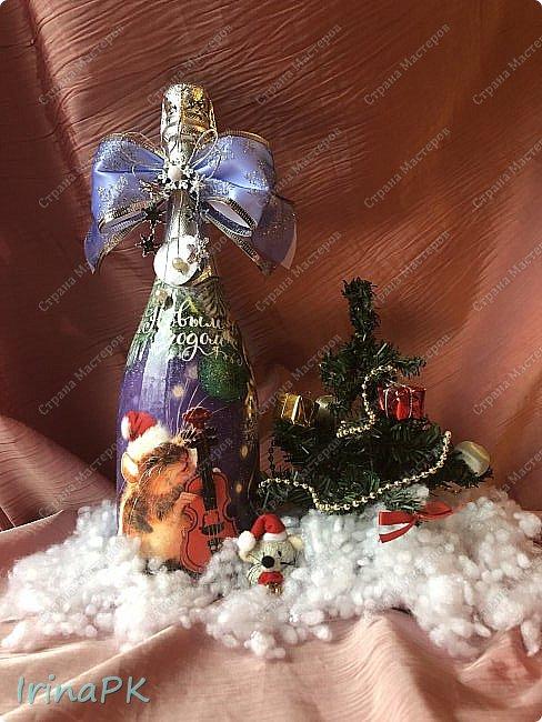 25 января наступил год Крысы (Мыши). Как всегда,по традиции к каждому Новому году делаю декупаж из открыток с символом года, и этот год не исключение.  фото 9