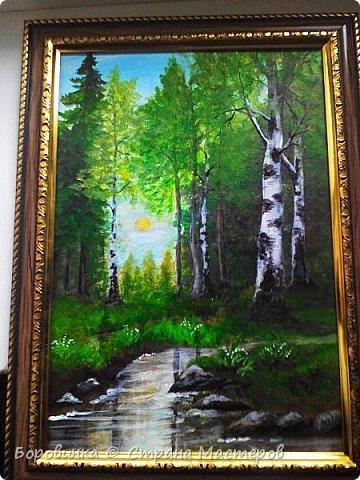 Здравствуйте, дорогие соседи , жители этой замечательной Страны! Я снова к Вам с рисунками. Весна в лесу. фото 1