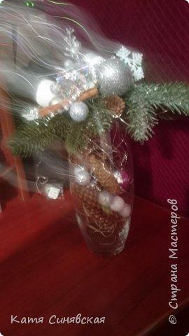Вот такая новогодняя композиция в вазе у меня получилась) фото 10